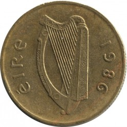 Coin > 20pence, 1986 - Ireland  - reverse