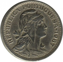 Coin > 50 centavos, 1927-1968 - Portugal  - reverse