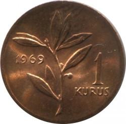 Coin > 1kurus, 1969 - Turkey  - reverse