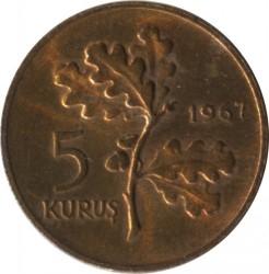 Mynt > 5kurus, 1958-1968 - Tyrkia  - reverse