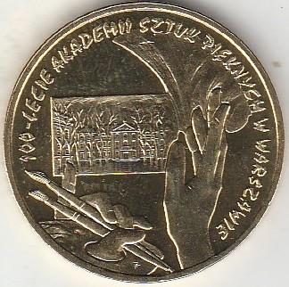 2004 Coin of Poland Polish 2zl  Fine Arts Academy