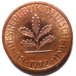 Münze > 1Pfennig, 1992 - Deutschland  - obverse