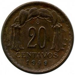 Moneda > 20centavos, 1942-1953 - Chile  - reverse