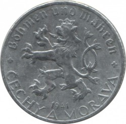Coin > 50hellers, 1940-1944 - Bohemia and Moravia  - obverse