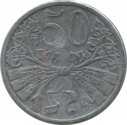 Coin > 50hellers, 1940-1944 - Bohemia and Moravia  - reverse
