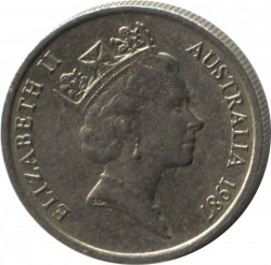Mynt > 5cents, 1985-1998 - Australia  - reverse