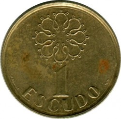 Moneta > 1escudo, 1986-2001 - Portugalia  - obverse