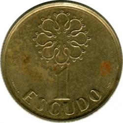 Mynt > 1escudo, 1986-2001 - Portugal  - reverse