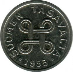Münze > 1Mark, 1955 - Finnland  - reverse