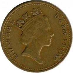 Munt > 1penny, 1985-1992 - Verenigd Koninkrijk  - obverse
