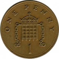 Munt > 1penny, 1985-1992 - Verenigd Koninkrijk  - reverse
