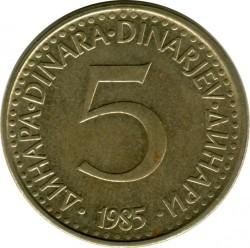 Münze > 5Dinar, 1982-1986 - Jugoslawien  - reverse