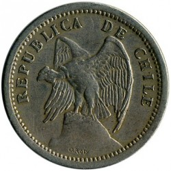 Moneta > 20centavos, 1920-1941 - Chile  - reverse