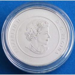 Moneda > 25dólares, 2015 - Canadá  (50 aniversario - Bandera Canadiense) - obverse