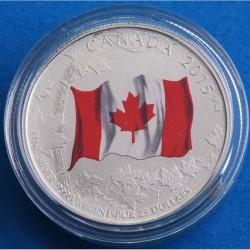 Moneda > 25dólares, 2015 - Canadá  (50 aniversario - Bandera Canadiense) - reverse