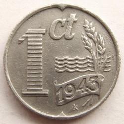 Монета > 1цент, 1941-1944 - Нідерланди  - reverse
