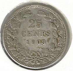 Monēta > 25centi, 1898-1906 - Nīderlande  - reverse