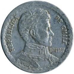 Moeda > 1peso, 1954-1958 - Chile  - obverse