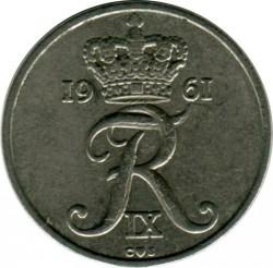 Moneda > 10ore, 1960-1972 - Dinamarca  - obverse