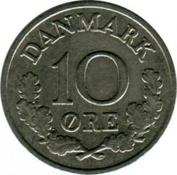 Moneda > 10ore, 1960-1972 - Dinamarca  - reverse