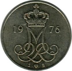 Moeda > 10ore, 1973-1988 - Dinamarca  - obverse