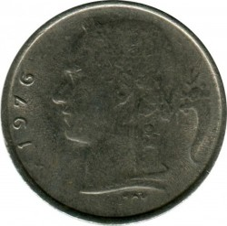 "Minca > 1frank, 1976 - Belgicko  (Nadpis v holandčine - ""BELGIE"") - reverse"