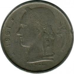 """Minca > 1frank, 1951 - Belgicko  (Nadpis v holandčine - """"BELGIE"""") - obverse"""