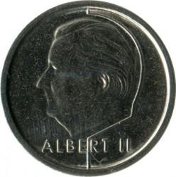 """Minca > 1frank, 1995 - Belgicko  (Nadpis v holandčine - """"BELGIE"""") - obverse"""