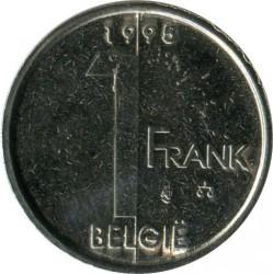 "Minca > 1frank, 1995 - Belgicko  (Nadpis v holandčine - ""BELGIE"") - reverse"