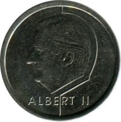 """Minca > 1frank, 1998 - Belgicko  (Nadpis v holandčine - """"BELGIE"""") - obverse"""