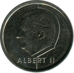 "Minca > 1frank, 1998 - Belgicko  (Nadpis v holandčine - ""BELGIE"") - reverse"