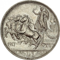Moneta > 1lira, 1915-1917 - Italija  - reverse