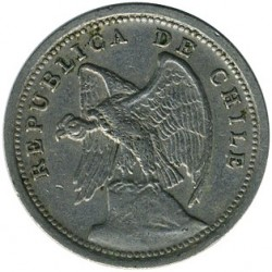 Coin > 10 centavos, 1920-1941 - Chile  - reverse