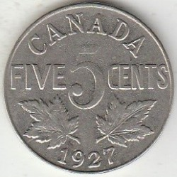 Coin > 5 cents, 1922-1936 - Canada  - obverse