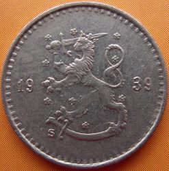 Münze > 25Penny, 1939 - Finnland  - obverse