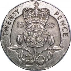 מטבע > 20פנס, 1985-1997 - בריטניה  - reverse