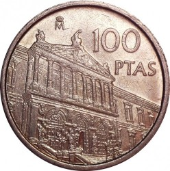 Coin > 100 pesetas, 1996 - Spain  (National Library) - obverse