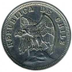 Moneta > 5centavos, 1920-1938 - Chile  - reverse