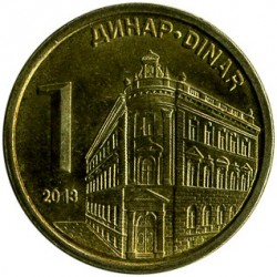 العملة > 1دينار, 2011-2018 - صربيا  - obverse
