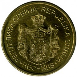 العملة > 1دينار, 2011-2018 - صربيا  - reverse