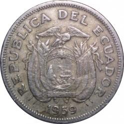 Pièce > 1sucre, 1959 - Équateur  - obverse