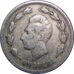 Pièce > 1sucre, 1959 - Équateur  - reverse
