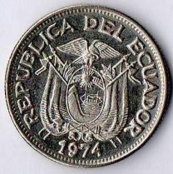 Pièce > 50centavos, 1963-1982 - Équateur  - obverse