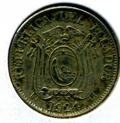 Pièce > 10centavos, 1924 - Équateur  - obverse