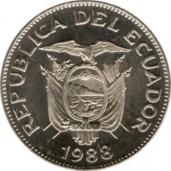 Moneta > 1sukrė, 1988-1992 - Ekvadoras  - obverse