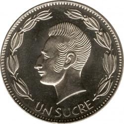 Moneta > 1sukrė, 1988-1992 - Ekvadoras  - reverse