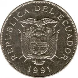 Monedă > 50sucre, 1988-1991 - Ecuador  - obverse