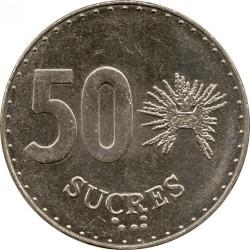 Monedă > 50sucre, 1988-1991 - Ecuador  - reverse