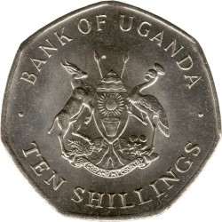 Монета > 10шиллингов, 1987 - Уганда  - obverse
