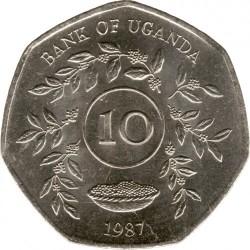 Монета > 10шиллингов, 1987 - Уганда  - reverse